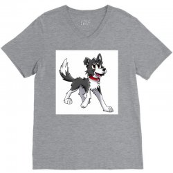 border collie 1457986758qll V-Neck Tee | Artistshot