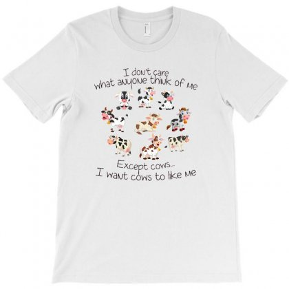 Except Cows I Want Cows To Like Me T-shirt Designed By Hoainv