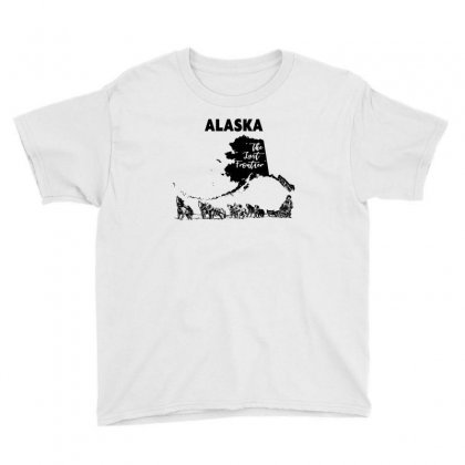 Alaska, The Last Frontier Youth Tee Designed By Neset