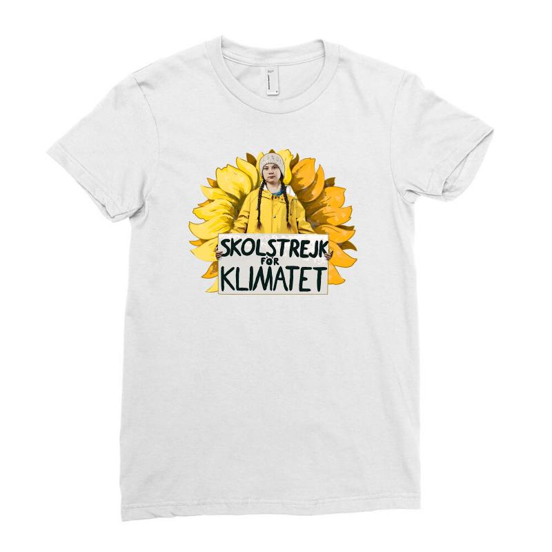 Greta Thunberg Ladies Fitted T-shirt | Artistshot