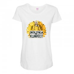 greta thunberg Maternity Scoop Neck T-shirt | Artistshot