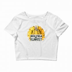 greta thunberg Crop Top | Artistshot