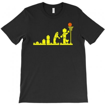 Evolution Lego Basketball Sports Funny T-shirt Designed By Funtee