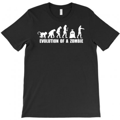 Evolution Of A Zombie T-shirt Designed By Funtee