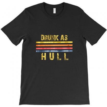 Drunk As Hull Hockey Logo T-shirt Designed By Irwansyahronie