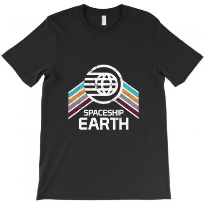 Earth With Distressed Logo T-shirt Designed By Irwansyahronie