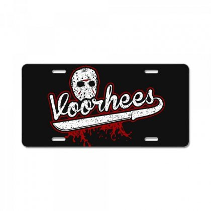 Jason Voorhees Friday The 13th Halloween License Plate Designed By Af4n