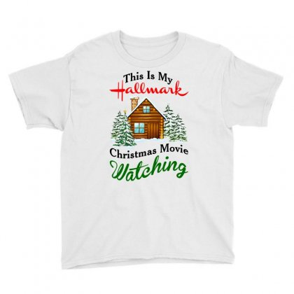 This Is My Hallmark Christmas Movie Watching Youth Tee Designed By Amber Petty