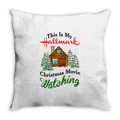 This Is My Hallmark Christmas Movie Watching Throw Pillow Designed By Amber Petty