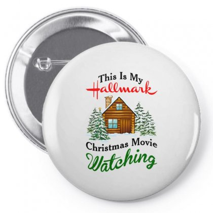 This Is My Hallmark Christmas Movie Watching Pin-back Button Designed By Amber Petty