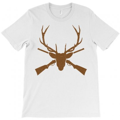 Deer And Gun Hunting Hunter Outdoors T-shirt Designed By Sabriacar