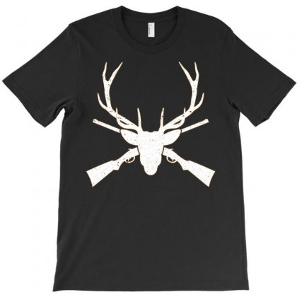 Deer And Gun Hunting T-shirt Designed By Sabriacar