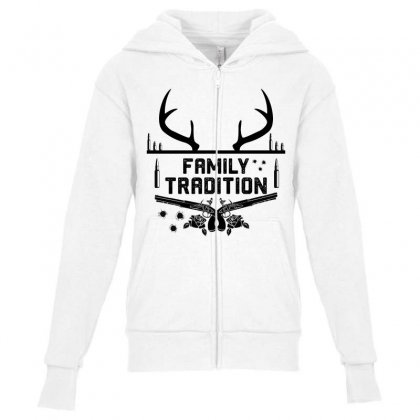 Family Tradition Youth Zipper Hoodie Designed By Sabriacar