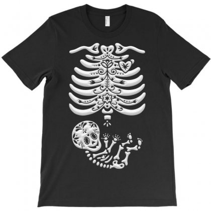 Sugar Skull Maternity Skeleton Skelly Baby T-shirt Designed By Igun