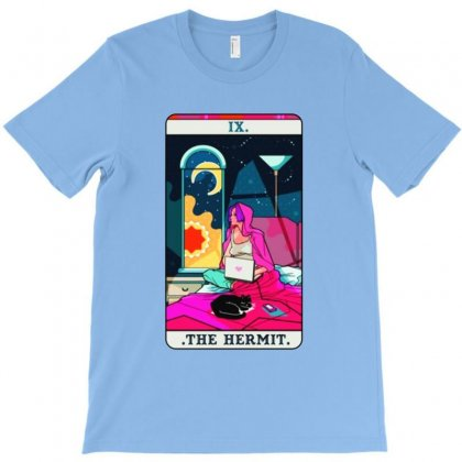 Hermit Tarot Card T-shirt Designed By Balqis Tees