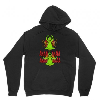 Grinch Yoga Unisex Hoodie Designed By Balqis Tees
