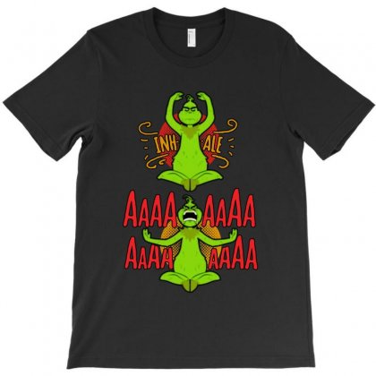 Grinch Yoga T-shirt Designed By Balqis Tees