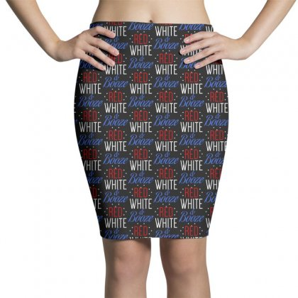 Red White And Booze Pencil Skirts Designed By Pinkanzee