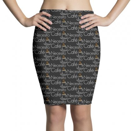 Necesito Cafe Funny Pencil Skirts Designed By Pinkanzee