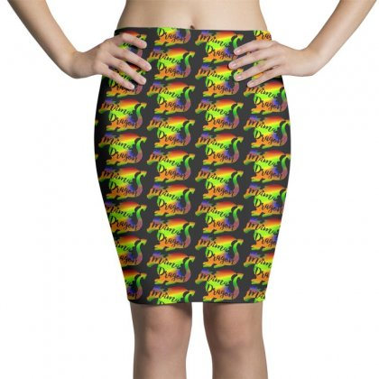 Mama Dragon Funny Pencil Skirts Designed By Pinkanzee
