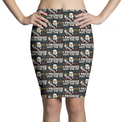 Horror Jason Voorhees Just The Tip I Promise Pencil Skirts Designed By Pinkanzee