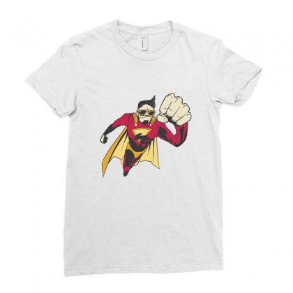 Superhero Ladies Fitted T-shirt Designed By Disgus_thing