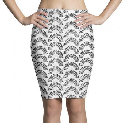 We Are Everywhere On Black Pencil Skirts Designed By Pinkanzee