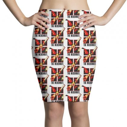The Incredibles Retro Grid Pencil Skirts Designed By Pinkanzee