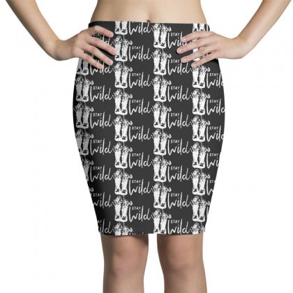 Midwest Swag   Stay Wild Pencil Skirts Designed By Pinkanzee