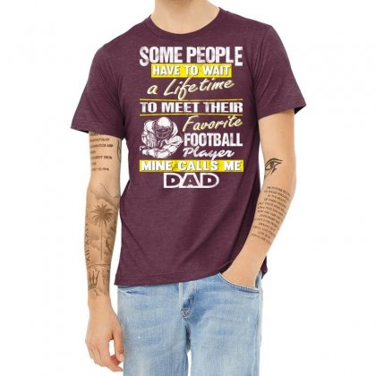 Football Player's Dad - Father's Day - Dad Shirts Heather T-shirt Designed By Davidph