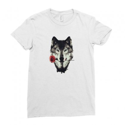 Loved Wolf Ladies Fitted T-shirt Designed By Zaina