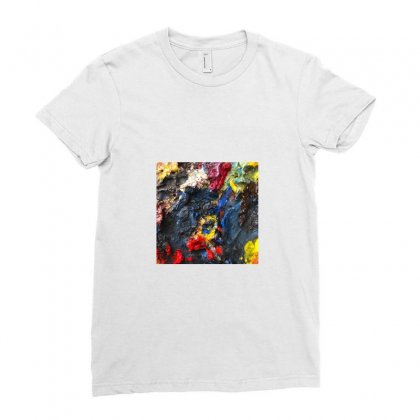 More Paint From The Tube Ladies Fitted T-shirt Designed By A M A N I  A R T