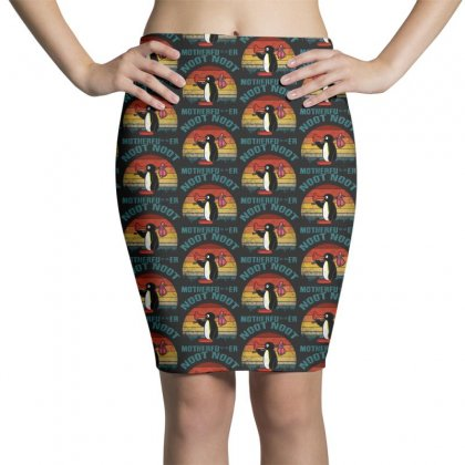 Funny Noot Noot Pingu Vintage Pencil Skirts Designed By Pinkanzee