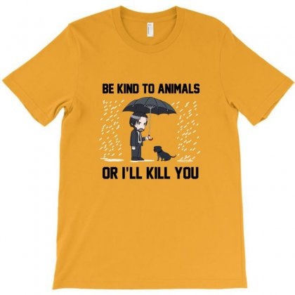 Be Kind To Animals T-shirt Designed By Lisamona772