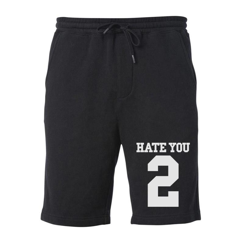 Hate You 2 Fleece Short | Artistshot