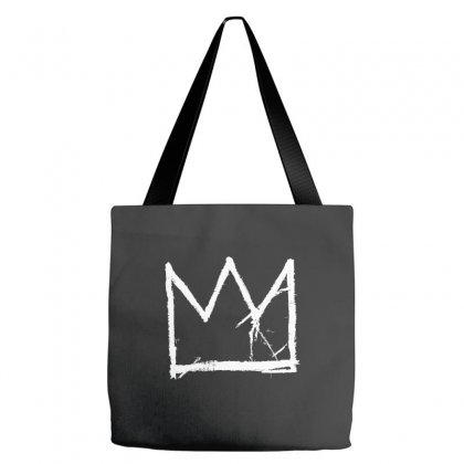 Basquiat King Crown White Tote Bags Designed By Jetspeed001
