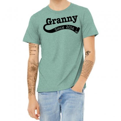 Granny Since 2016 Heather T-shirt Designed By Tshiart