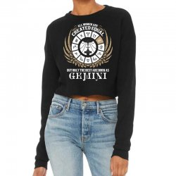 Gemini Women Cropped Sweater Designed By Tshiart