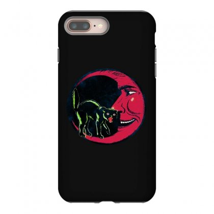 Horror Halloween Beistle Cat On The Moon Iphone 8 Plus Case Designed By Pinkanzee