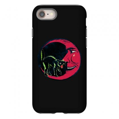 Horror Halloween Beistle Cat On The Moon Iphone 8 Case Designed By Pinkanzee