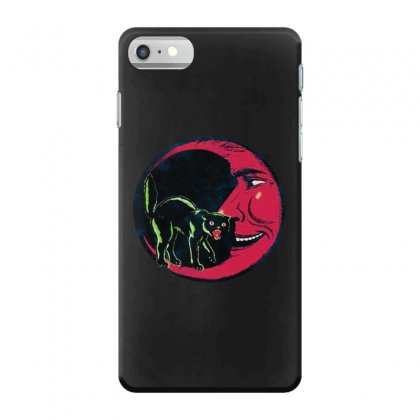 Horror Halloween Beistle Cat On The Moon Iphone 7 Case Designed By Pinkanzee