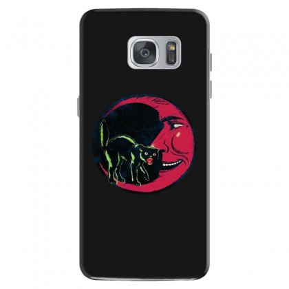 Horror Halloween Beistle Cat On The Moon Samsung Galaxy S7 Case Designed By Pinkanzee
