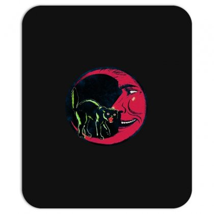 Horror Halloween Beistle Cat On The Moon Mousepad Designed By Pinkanzee
