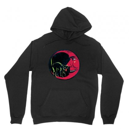 Horror Halloween Beistle Cat On The Moon Unisex Hoodie Designed By Pinkanzee