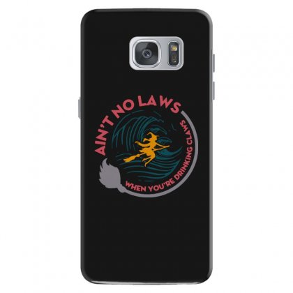 Halloween Witch Ain't No Laws You're Drinking Claws Samsung Galaxy S7 Case Designed By Pinkanzee