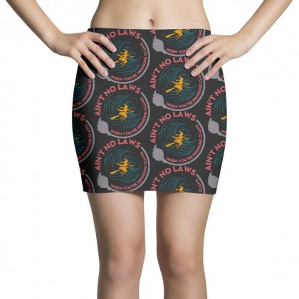 Halloween Witch Ain't No Laws You're Drinking Claws Mini Skirts Designed By Pinkanzee