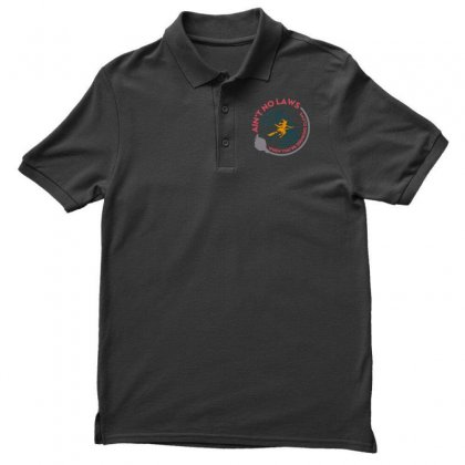 Halloween Witch Ain't No Laws You're Drinking Claws Men's Polo Shirt Designed By Pinkanzee