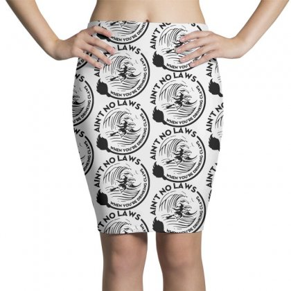 Halloween Witch Ain't No Laws You're Drinking Claws For Light Pencil Skirts Designed By Pinkanzee