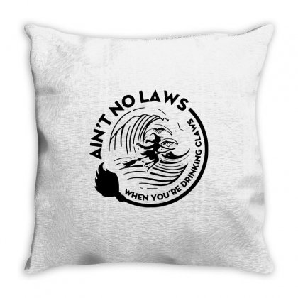 Halloween Witch Ain't No Laws You're Drinking Claws For Light Throw Pillow Designed By Pinkanzee