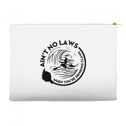 Halloween Witch Ain't No Laws You're Drinking Claws For Light Accessory Pouches Designed By Pinkanzee